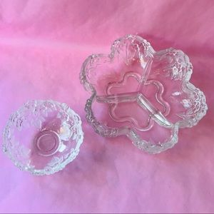 Vintage set of crystal party dishes
